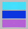 abstract colorful ray burst banner background set vector image vector image