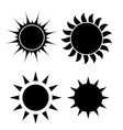 Abstract simply sun icon sign collection set