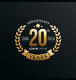anniversary emblems template vector image vector image