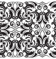 baroque black and white beautiful vintage seamless vector image