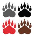 bear paw logo design collection - 1 vector image vector image