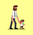 boy with father walking vector image vector image