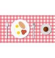 breakfast menu with egg bread vector image
