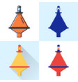 buoy icon set in flat and line styles vector image vector image