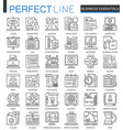 business essential outline concept symbols vector image
