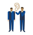 businessman telling a secret to another man vector image