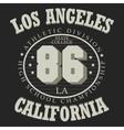 California T-shirt fashion vector image vector image