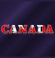 canada flag symbol vector image vector image