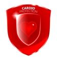 Cardio Health Protection Shield Symbol vector image vector image