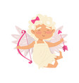 cheerful little angel cartoon character of baby vector image vector image
