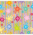 children's animal pattern vector image vector image