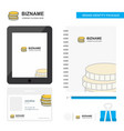 coins business logo tab app diary pvc employee vector image vector image