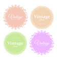 collection of elegant round vector image vector image