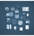 Collection of online shopping pictograms vector image vector image