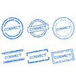 Connect stamps vector image vector image