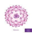 crown chakra sahasrara glowing chakra icon vector image vector image