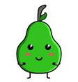 cute pear emoticon vector image