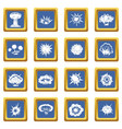 explosion icons set blue vector image vector image
