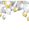 festive balloons background vector image