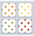 Fruit seamless pattern set icons flat design line vector image vector image