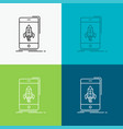 game gaming start mobile phone icon over various vector image vector image