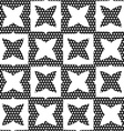Geometrical ornament with white shapes and dotted vector image vector image