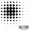halftone black circle abstract background vector image vector image