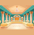 hall for banquet interior of ballroom vector image vector image