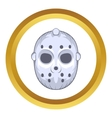 Hockey goalie mask icon cartoon style vector image vector image