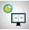 Infographic design data icon business concept vector image