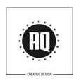 initial letter aq logo template design vector image