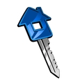 Key with house vector image