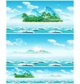 landscape of the open sea and tropical islands vector image vector image