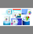 laundry services advertising posters set vector image vector image
