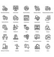 logistic delivery icons set 9 vector image vector image