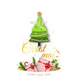 merry christmas background minimal decorative vector image vector image