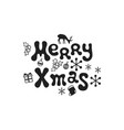 merry xmas christmas calligraphy phrase vector image
