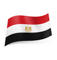 national flag of egypt red white and black vector image vector image