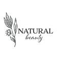 natural beauty florist shop assortment monochrome vector image vector image