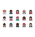 people cartoon characters avatar men and women set vector image vector image