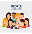 People digital design vector image vector image
