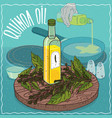quinoa oil used for frying food vector image vector image