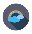 Rainbow single icon vector image