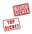 Realistic Top Secret grunge rubber stamps vector image