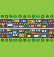 road top view with highways vector image vector image
