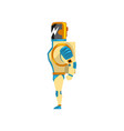 robot cyborg superhero costume side view vector image vector image