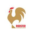 rooster logo template concept bird cock vector image