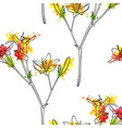 seamless pattern with lily flower vector image