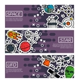Set of Horizontal Banners about space vector image vector image