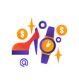 shopping symbols female shoe wrist watch vector image